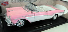 Motormax 1/18 Scale Diecast - 73152 1957 Buick Roadmaster Pink White