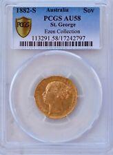 1882 S GOLD SOVEREIGN PCGS AU58 Australia Sydney