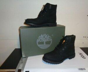 Timberland 8658A Women's Classic 6-Inch Premium WP Boot Black Nubuck New