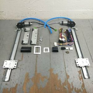 1931-50 Chevy Power Window Kit plug+play wiring harness cut-to-fit interior 12v