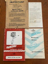 Vintage Rare 1955 Mercury Outboard Motor packet Owner's & Accessories Guides & o