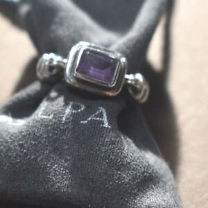 Silpada Sterling Silver Size 9 Misty Morning Amethyst Ring R1158 purple lavendar