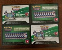 Pokemon Cards Lot Unused Online Code Cards 6x Mixed Assortment