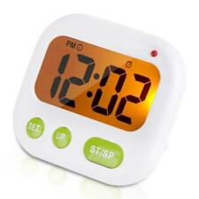 Music/Vibration Digital LCD Alarm Clock Electronic Kitchen Timer with Bracket GW