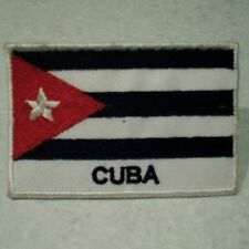 Cuba  National Flag . Sew on / Iron on Patch  (7.0cm x 4.6cm)