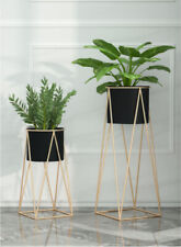 More details for metal planter stand with plant pot flower pot for indoor balcony planter