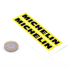Michelin Stickers Yellow & Black Classic Car Bike Racing Vinyl Decals 100mm x2