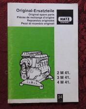 GENUINE HATZ 2 M 41 3 M 41 4 M 41 DIESEL ENGINE PARTS CATALOG MANUAL CLEAN