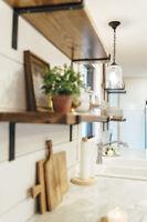 Decorative Handcrafted Rustic Reclaimed Metal Shelf Brackets L Shape