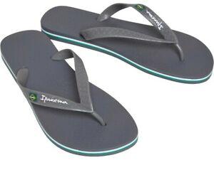 Ipanema Classic Brazil 21 Men's Flip Flops Sandals 80415 Graphite UK Size 11