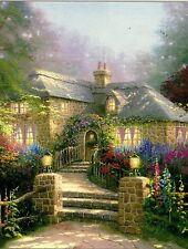 "Thomas Kinkade ""Hollyhock House"" Boxless 100pc Puzzle Floral Garden Flower *NEW*"