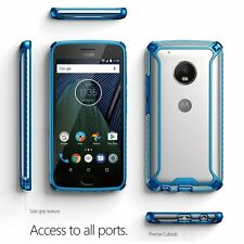 Case For Motorola Moto G5 Plus POETIC【Affinity】Soft Shock proof Case Blue