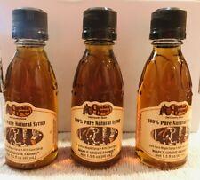 x3 New Cracker Barrel 1.5 fl oz 100% Pure Natural Syrup Mini Bottle -Unopened