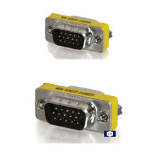 HD15 VGA M/M Mini Gender Changer Adapter