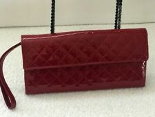 ALDO RED PATENT LEATHER QUILTED CLUTCH/WRISTLET