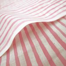 Pink Stripe Hand Block Print 100% Cotton Sewing Craft Cloth Dressmaking Fabric