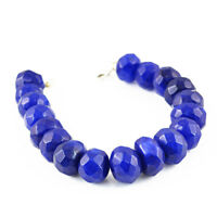427.50 Cts Earth Mined Faceted Blue Sapphire Round Shape Beads Bracelet (RS)