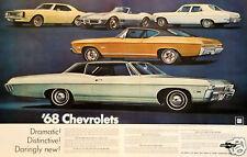 "5x7""photo REPRINT GM CHEVROLET ADVERTISING 1968 VETTE CAMARO NOVA CHEVELLE etc"