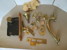 Vintage 1953 Corbin Entrance Door Set Complete with Hardware New Old Stock