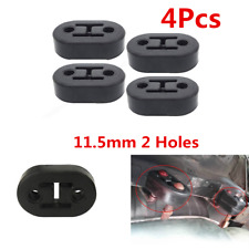 11.5mm 2 Holes Car Exhaust Tail Pipe Mount Bracket Hanger Rubber Insulator Solid