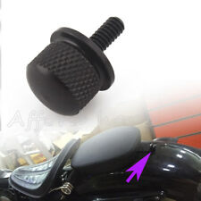 Black Billet Aluminum Knurled Seat Bolt for Harley WILLY FATBOY Roadking Street