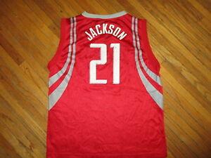 JIM JACKSON HOUSTON ROCKETS 21 JERSEY Jimmie NBA Basketball Worn Print YOUTH XL