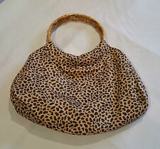 Bamboo Handle Leopard Print Bag Rockabilly Pinup Vintage Style NEW @ Emporium 44