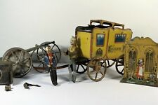 Kaiserliche Post Wagon & Other Tin Toy Parts, Germany? Lehmann? 1920s?