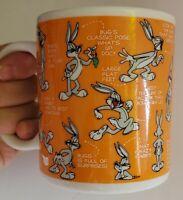 1994 Bugs Bunny Animators Sketch Looney Tunes Ceramic Mug Warner Bros WB !