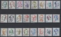 CB145241/ WEST GERMANY – FAMOUS WOMEN – YEARS 1986 - 1992 MINT MNH