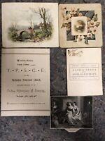 Lot of Early Ephemera-Prints-Dance Card-Program