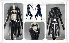 New Anime BLACK ROCK SHOOTER Cosplay Kuroi Mato Costume Uniform Full Set Custom