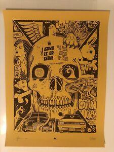 Mike Giant Jeremy Fish Print Rare /100 Tribal Blackbook