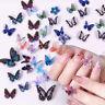 Nagel Schmetterling Kunsthandwerk Aufkleber Lebhaft 3D Nail Art Dekoration Mixed