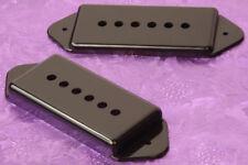 Lindy Fralin Hollow Body Guitars Pickup Covers Premium P90 Dogear Black Set of 2