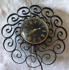 Vintage GE Telechron Wall Clock - General Electric Model 2HA60, Black