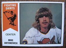 Mike Antonovich / Ross Perkins 1974/75 OPC WHA Hockey Wrong Back Error Card