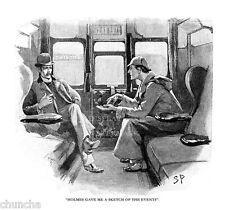 """Sidney Paget Drawing Of Sherlock Holmes In Silver Blaze 11"""" x 14"""""""
