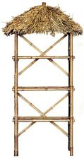 Bamboo Tiki Palapa Shelf Thatched Roof 3 tier Patio Deck Indoor Storage Rack