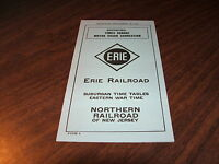 SEPTEMBER 1943 ERIE RAILROAD FORM 9 NORTHERN RAILROAD OF NEW JERSEY