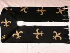 Fleur De Lis on black Fleece Scarf