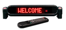 New! Countertop RED LED Programmable Scrolling Display Sign for Car & AC Adapter