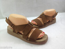 Rockport Adjustable Strap Sandals Brown Suede Shoes Size 7 M