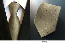 Olive Green and Yellow Patterned Handmade 100% Silk Tie
