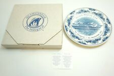 HOLLAND AMERICAN MS AMSTERDAM 2000 INAUGURAL SAILING PLATE BY ROYAL GOEDEWAAGEN