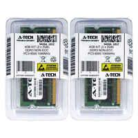 Atech 4GB Kit Lot 2x 2GB SODIMM DDR3 Laptop 8500 1066MHz 1066 204pin Ram Memory