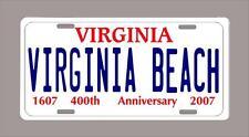 "VIRGINIA ""VIRGINIA BEACH"" custom novelty license plate- 6""x12"" FREE SHIPPING"