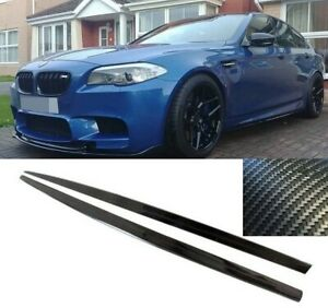 BMW F10 F11 M sport M5 performance side skirt extensions blades carbon look