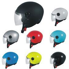 Open Face Jet Helmet Lid Motorbike Scooter Quad Visor Sonic moto A-PRO