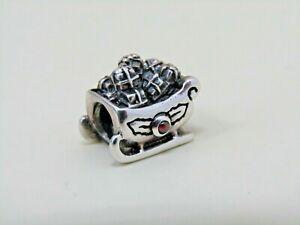 Pandora Santa's Sleigh Sterling Silver Sleigh Garnet Charm 790562GA